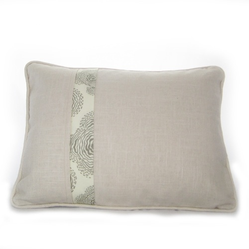 Linen Hexagon Pillow - Back