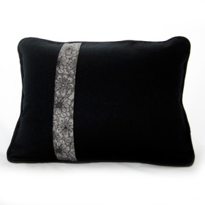 Black Linen Hexagon Pillow