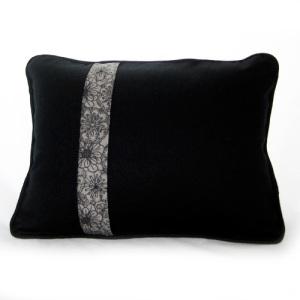 Black Linen Hexagon Pillow