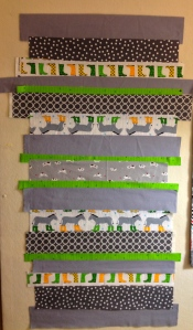 Strips on design wall