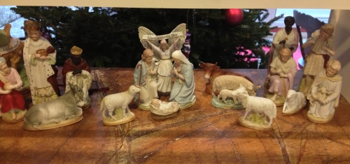 Nativity scene that was my husband's grandmothers.