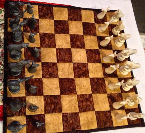 Finished chess board