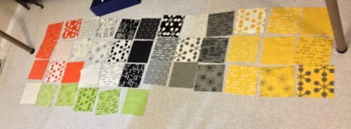 Moda Comma charm pack - all 42 fabrics.