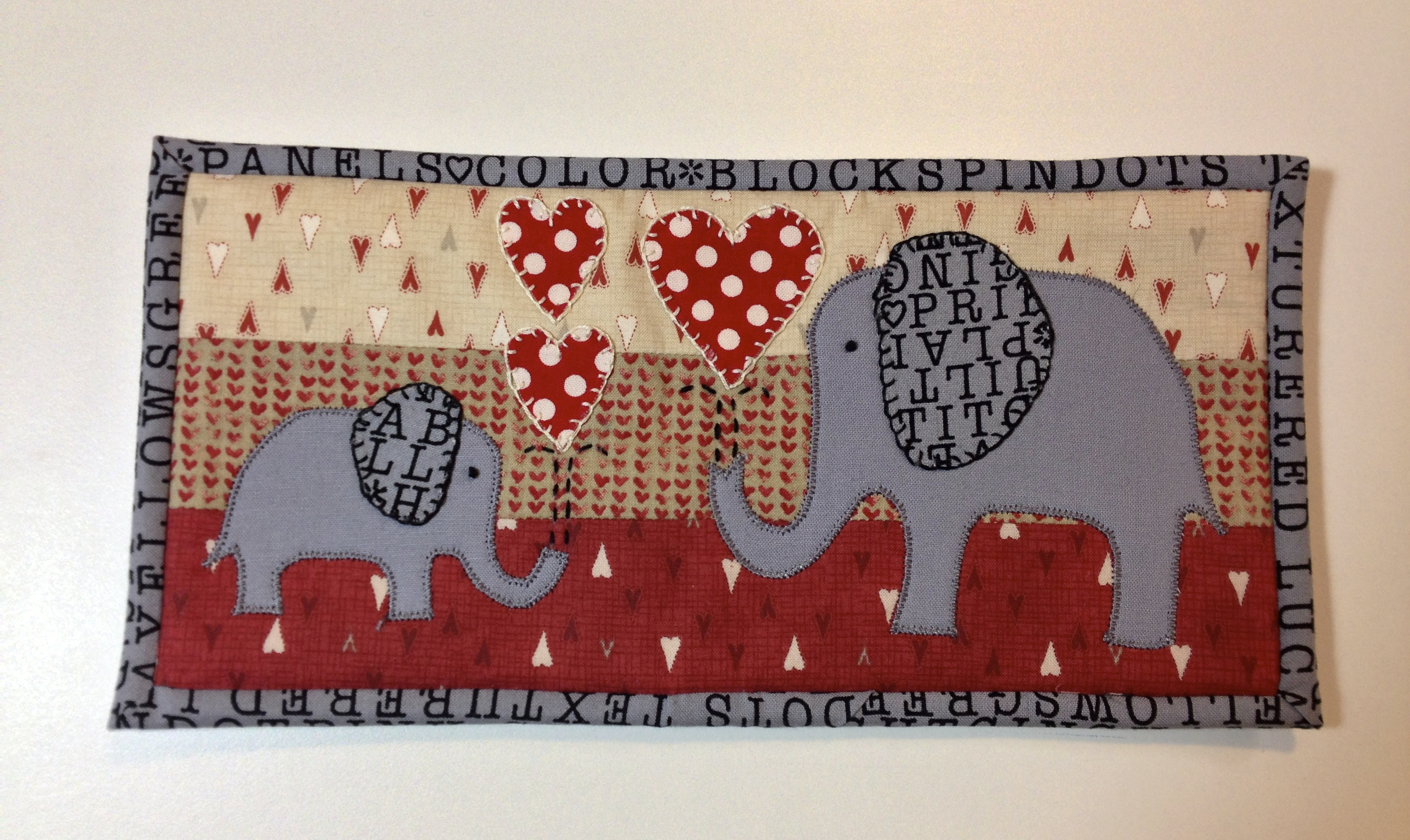 Happy Valentineu0027s Day · Mug Rug For Daughter M Who Loves Elephants.