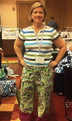 Pajamas with cuffs made by Karen Lintor