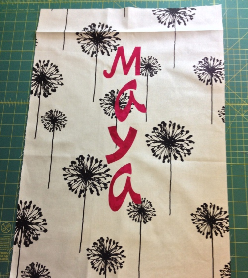 Name fused on tote