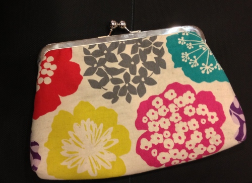 My framed clutch bag. Isn't it pretty?