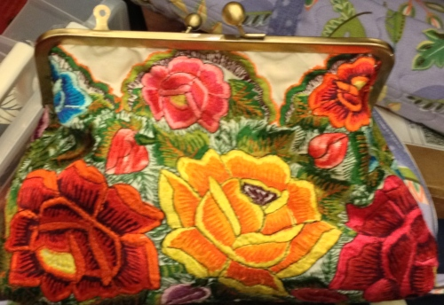 Embroidered bag by Theresa
