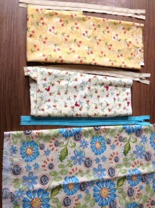 Fabric and zipper selection