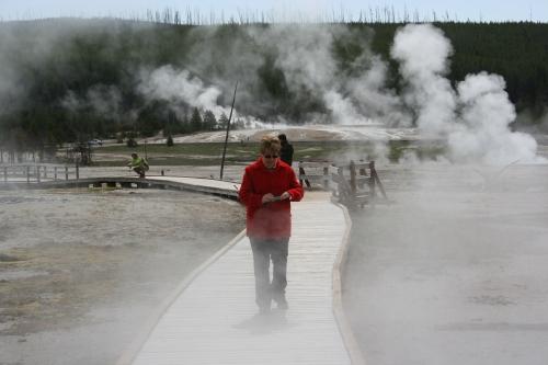 Me among the geysers