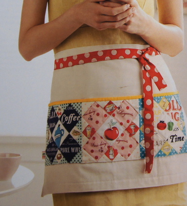 Polka Dot Cafe Apron - photo from the book Patchwork Please by Ayumi Takahashi