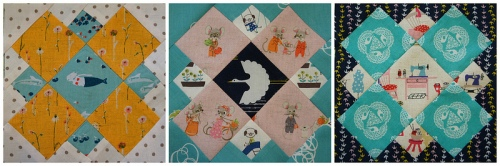 Patchwork squares by Angela Pingel of Cut to Pieces.