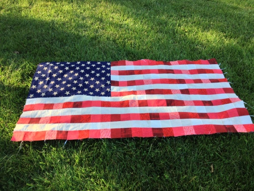 Flag quilt top