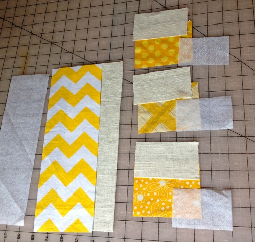 Here are the materials all cut for one pouch.