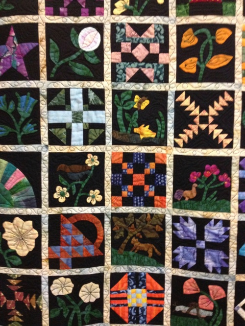 Detail of above quilt.