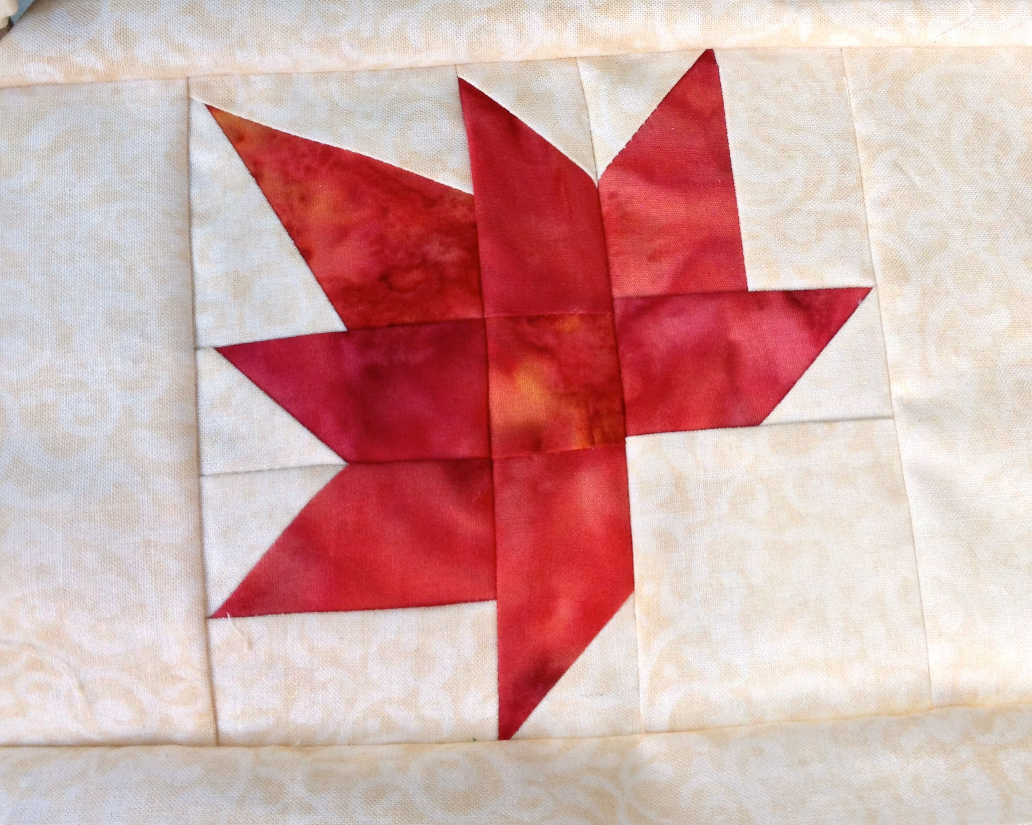 Maple Leaf Quilt Pattern Table Runner : maple leaf table runner I Finally Have Time