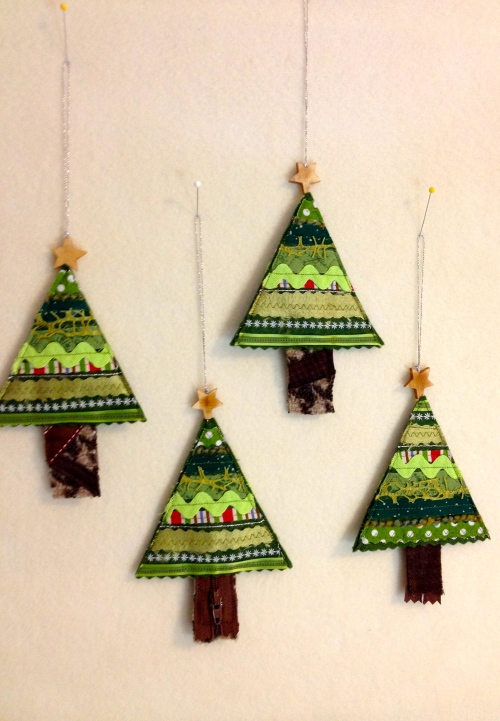 4 ornaments ready to swap