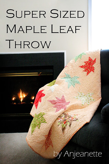 Super Sized Maple Leaf Throw byAnjeanette final picture