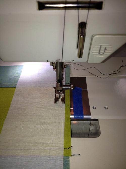 Each seam sewn first with a staggered seam allowance.