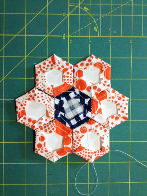 EPP hexagon flower