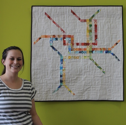 Dana Seltzer with DC Metro Map