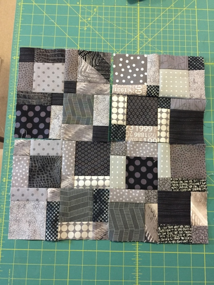 Disappearing nine patch blocks