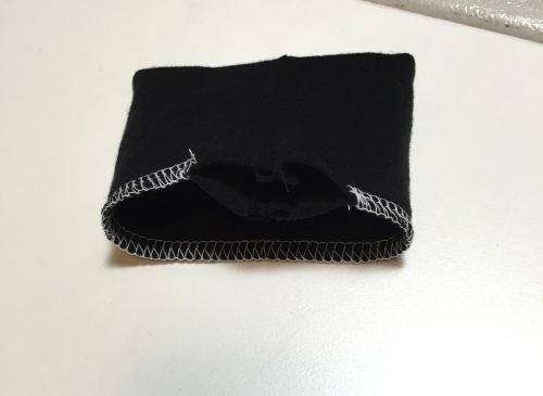 Now joined to make the cuff that will be sewn onto the sleeve.