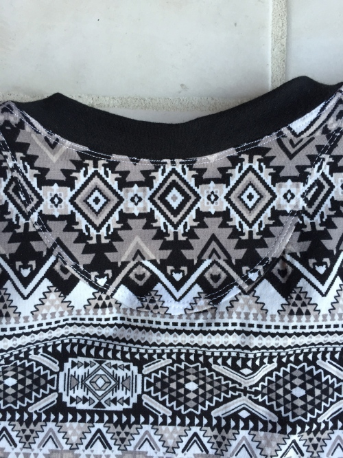 Back neck - fabric added