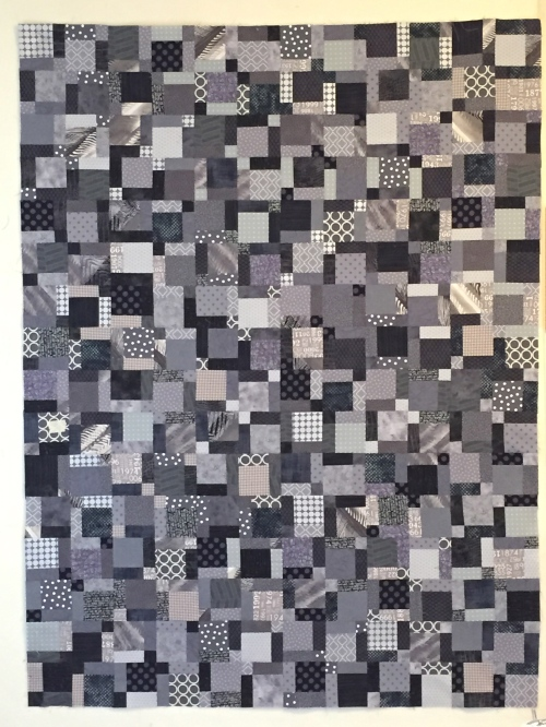 Disappearing Nine Patch quilt top.